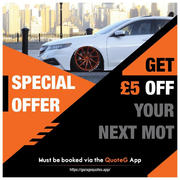 £5 off car MOT cashback offer